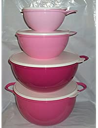 Gain Tupperware 6 12 32 42 C Thatsa Mega Bowl Mixing Bowls Set 4 Different Pink discount