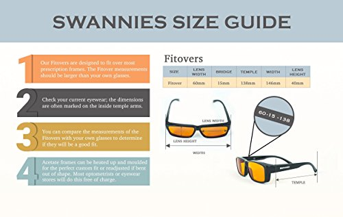 Swanwick Sleep Fitover Blue Light Blocking Glasses and Computer Eyewear - Wear OVER your Prescription Glasses or Readers by Swanwick Sleep (Image #6)