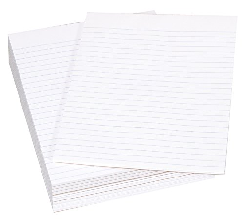 School Smart Legal Pad, 8-1/2 x 11 Inches, White, 50 Sheets, Pack of 12