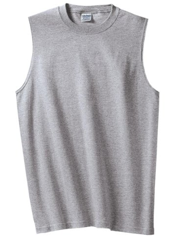 (Gildan Ultra CottonTM 90/10 Cotton/Poly Sleeveless T-Shirt XL Sport Grey 2700)