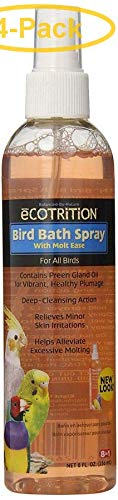 eCOTRITION Bird Bath Spray with Molt Ease 8 oz - Pack of 4 by eCOTRITION