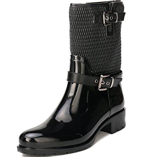 clásico diseño Agua Leroy Alexis Botas Mujer para Negro Caucho de Corta q0aYPag