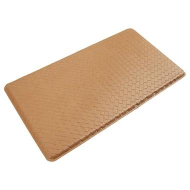 GelPro Basketweave Comfort Floor Mat, 20-Inch by 36-Inch, Khaki