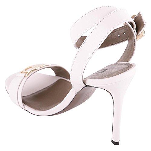 Versace Collection Damen LSD558OLNPAL01OC Weiss Leder Sandalen