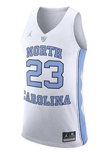 Nike Men's Jordan North Carolina Tar Heels UNC College Basketball Jersey White Size XL