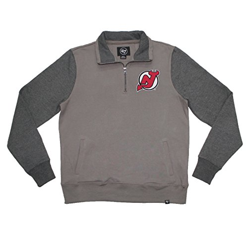 Nj Devils Top (NJ Devils NHL Mens Athletic 1/4 Zip Warm Sweatshirt S Grey)