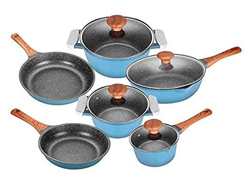 BESTSURE Nonstick stone Cookware set 10 PCS Non-Stick pots and pans set, Dishwasher Safe,Induction Compatible 100% PFOA…