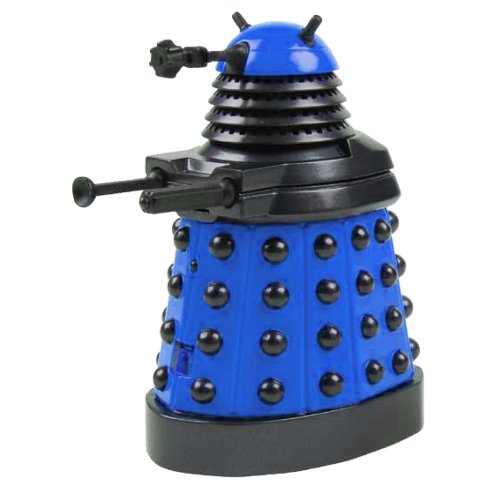 Underground Toys Doctor Who Dalek - Blue Desktop Patrol Figure with Motion Detectors and Sound Effects - 4'' Tall by Underground Toys