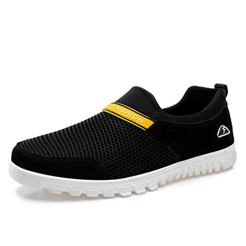 Nero Driving Shoes Leisure Mesh Lightweight Jogging Walking Male Breathable Mens Shoes Qianliuk 8waqtn5PP