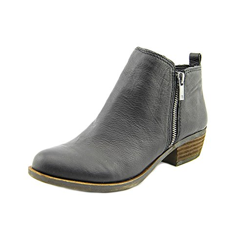 Lucky Brand Women's Basel Bootie,Black Leather,US 6.5 W