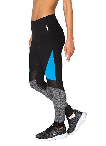 RBX Active Spliced Block Leggings w/ Mesh Inserts (Mustache Pantyhose)