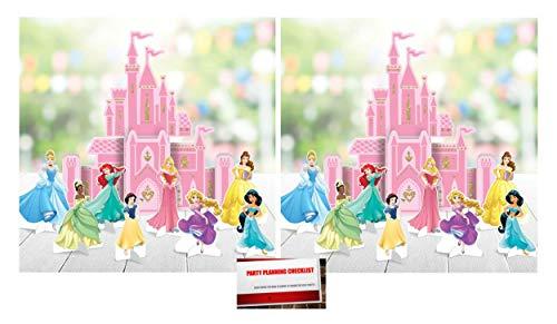 (2 Pack) Disney Princess Castle Table Centerpiece Decorations Deluxe Bundle (Plus Party Planning Checklist by Mikes Super Store) (A List Of All The Disney Princesses)