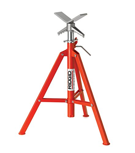 RIDGID 22168 Model VF-99 V Head High Folding Pipe Stand, 12-inch Pipe Stand by Ridgid