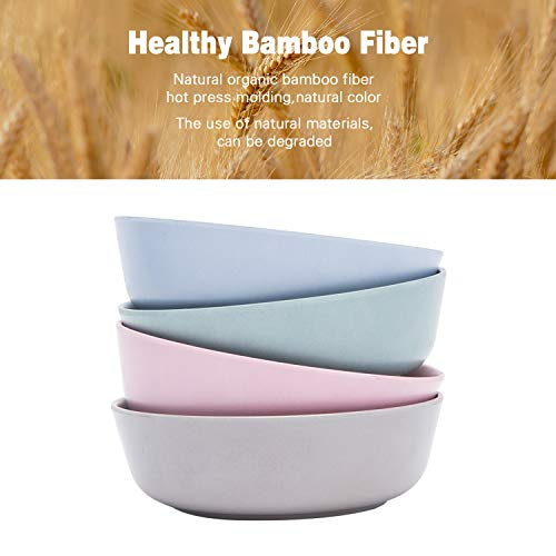 4pcs Bamboo Kids Bowls (20 fl oz) for Baby Feeding, Non Toxic & Safe Toddler Bowls, Eco-Friendly Tableware for Baby Toddler Kids Bamboo Toddler Dishes & Dinnerware Sets (Freshness)