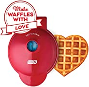 Dash DMW001HR Mini Maker Machine Shaped Individual Waffles, Paninis, Hash browns, Other On The Go Breakfast, Lunch, or Snack