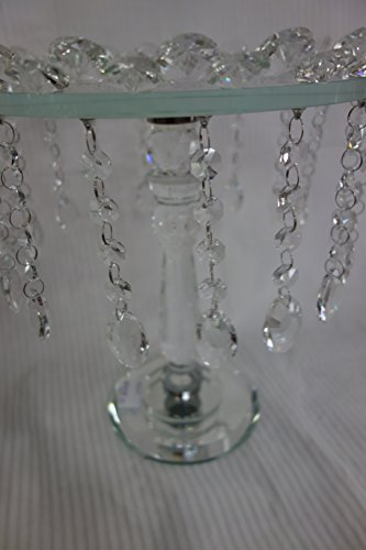 Exquisite High Acrylic Beaded Crystal Cake Stand, Shabby Chic, Gorgeous Look Cake Stand