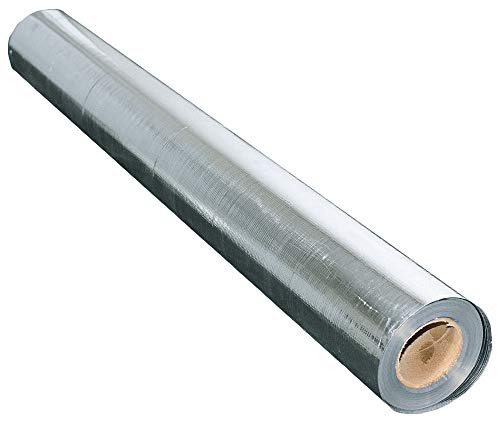 US Energy Products 250 sqft (4ft x 62.5ft) Aluminum Foil Barrier Insulation Sauna Non Perforated Solid 8 Mil Reinforced Aluminum Vapor Barrier.