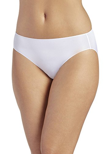 (Jockey Women's No Panty Line Promise Tactel Bikini, White 5 (MD))