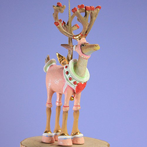 Krinkles Christmas Decorations - Patience Brewster Mini Dashaway Cupid Reindeer Ornament Christmas Holiday Tree Decoration