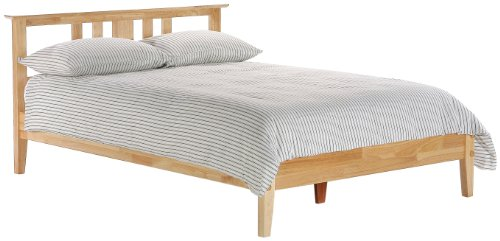 Night & Day Thyme Full Platform Bed Natural (Solid Full Headboard Wood)