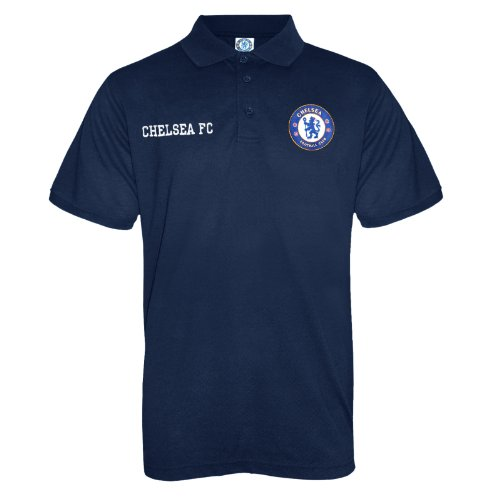 Chelsea FC Official Soccer Gift Mens Crest Polo Shirt Royal Blue XXL (Mens Polo Crest)