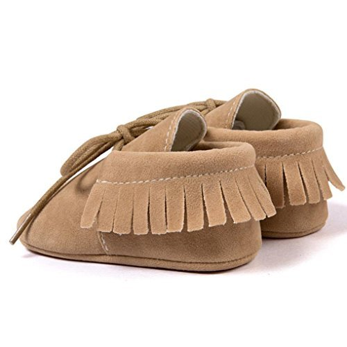 Clode® Baby Girl Kleinkind Turnschuhe Freizeitschuhe Quasten weiche alleinigen Schuhe Prinzessin Schuhe Khaki