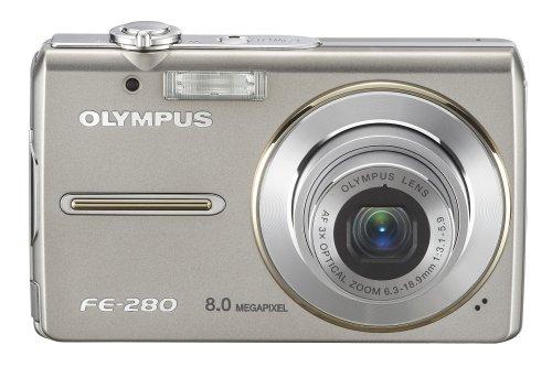 Olympus Stylus FE-280 8MP Digital Camera with Dual Image Stabilized 3x Optical Zoom (Olympus Fe)