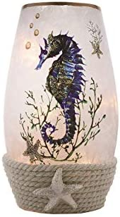 Stony Creek 7 Seahorse Lighted Glass Vase, SEH9205
