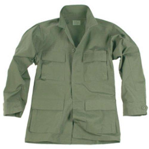 Teesar Men's BDU Shirt Ripstop Olive size (Battle Rip Combat Shirt)