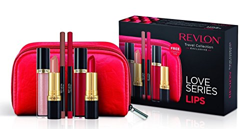 Revlon Love Series Lips Gift Set- Lipsticks, Lipgloss, Lipli