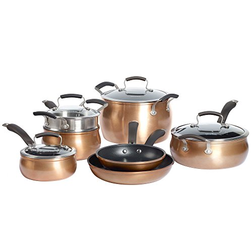 Epicurious aluminum nonstick 11 piece cookware set in for Buy kitchen cookware