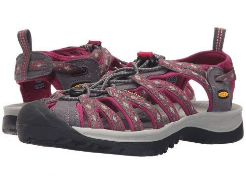 Keen(キーン) レディース 女性用 シューズ 靴 サンダル Whisper - Magnet/Sangria 6 B - Medium [並行輸入品]