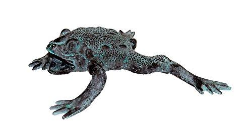 GiftBay Garden Frog Sculpture, Solid Cast Aluminum Metal, 12