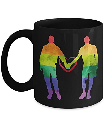 Shirt White LGBT Pride for Gay Couple Coffee