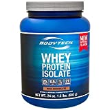Cheap BodyTech Whey Protein Isolate Powder with 25 Grams of Protein per Serving BCAA's Ideal for PostWorkout Muscle Building Growth, Contains Milk Soy Rich Chocolate (1.5 Pound)