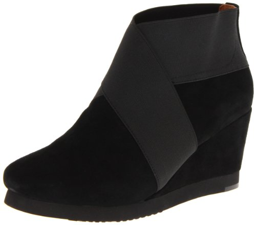 Douces Âmes Womens Deux Pour Laube Cheville Boot Noir