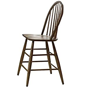 Amazon Com Bowery Hill 24 Quot Windsor Back Counter Stool In