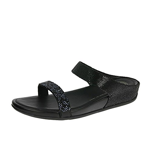 Fitflop Banda Roxy Sandalias De Slide Negro Negro