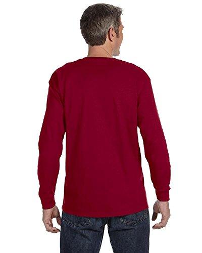 - Jerzees Men's Heavyweight Seamless T-Shirt, Cardinal, Medium