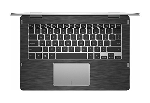 Black Brushed Aluminum Skin Decal Wrap Skin Case For Dell