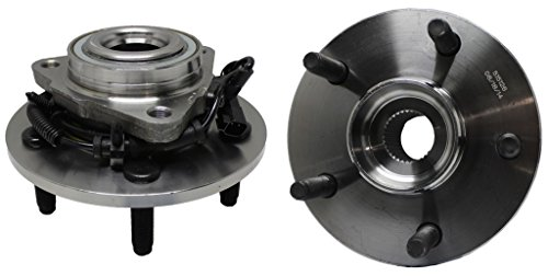 Detroit Axle Both (2) New Front Driver & Passenger Side Complete Wheel Hub & Bearing Assembly for 2009-2011 Dodge Ram 1500 With-ABS