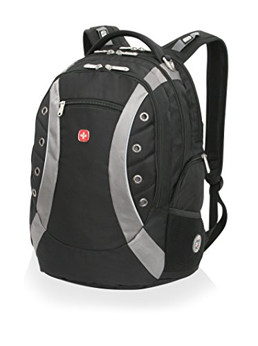 Swiss Gear SA1191 Black with Gray Laptop Backpack - Fits Most 15 Inch Laptops and - Army Sunglasses Swiss