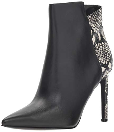 Nine West Women's Tomorrow Leather Ankle Boot Black 9.5 M US