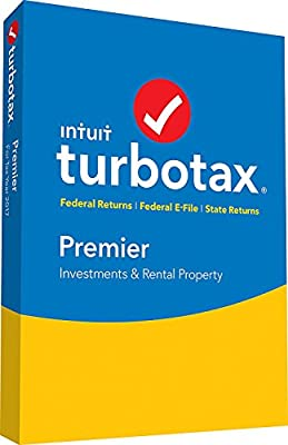 TurboTax Premier Tax Software 2017 Fed+Efile+State PC/MAC (SEALED IN DVD CASE) (Amazon Exclusive)