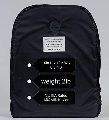 CCDirect.com 16x12in Bulletproof Armor Insert Plate Soft Aramid Kevlar Pad NIJ IIIA Pack