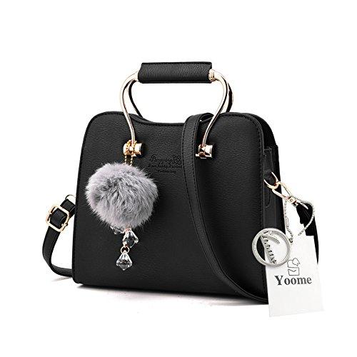 Yoome Retro Plush Crystal Colgante Elegante Mediano Crossbody Bolsos Para Las Mujeres Bolsas De Embrague Para Las Niñas