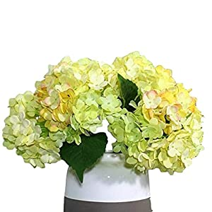 3 PCS Artificial Silk Hydrangea Flower Bouquets Home Garden Party Wedding Decor Design 4