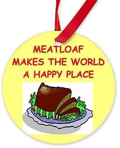 MOR Meatloaf.Png Round Christmas Ornaments Novelty Ceramic Ornaments Hanging for Christmas Decorations (Christmas Png Ornament Gold)