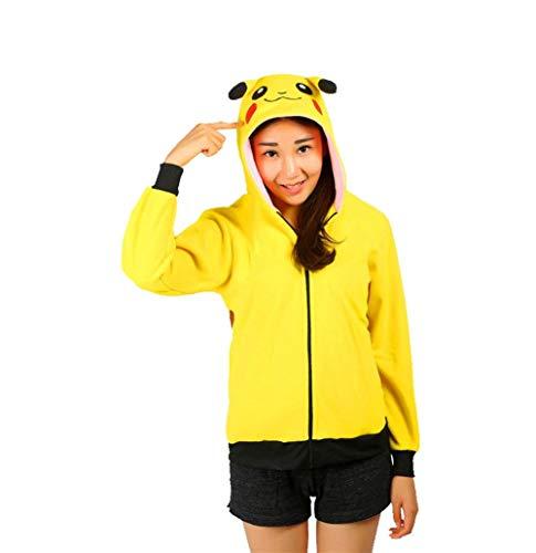 Imprim Panda Gaine Mode lgant Capuchon Yellow Femme Costume Capuche 2 Coat Longues A Manches Capuche Printemps Sweat Manteau Caline Outerwear Sweat Automne Wq6T6Ax