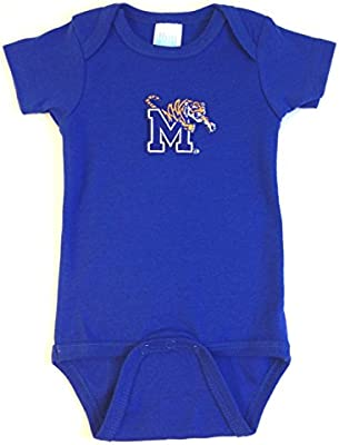 Future Tailgater Memphis Tigers Baby Baseball Style Playsuit